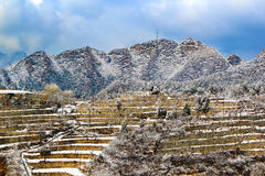 Snow terraces of beijing Royalty Free Stock Image