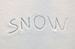 Snow text Royalty Free Stock Images