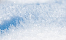 Snow texture. Snow close up detaii texture Royalty Free Stock Photo