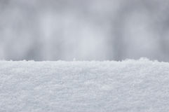 Snow Texture Background, Large Detailed Horizontal Macro Closeup, Gentle Bokeh Stock Images