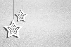 Snow texture background with star shapes Stock Photography