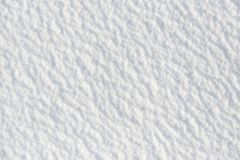 Snow for texture or background at sunny day, bright light with shadows, flat lay, top view, clean and nobody Stock Photo
