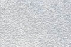 Snow for texture or background at sunny day, bright light with shadows, flat lay, top view, clean and nobody Stock Photography