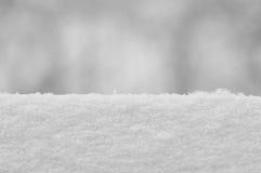 Snow Texture Backround, Large Detailed Macro Closeup, Horizontal Copy Space, Gentle Bokeh Stock Photo