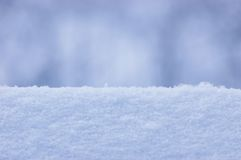 Fresh Snow Texture Background Closeup, Large Detailed Macro Pattern, Gentle Bokeh, Horizontal Royalty Free Stock Photo