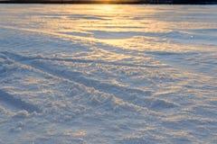 Snow texture in Russian Lapland, Kola Peninsula Stock Image