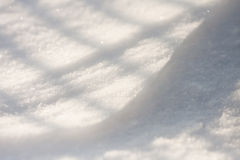 Snow texture with shadows Stock Photography