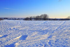 Snow texture tracks Stock Images