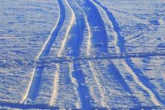 Snow texture tracks Royalty Free Stock Image
