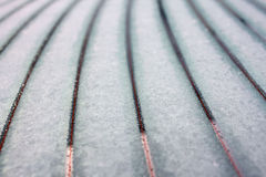 Snow thawing on car window Stock Photos