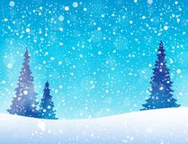 Snow theme background 5 Stock Image