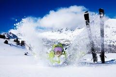 Snow throwing fun Royalty Free Stock Photos