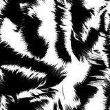 Snow tiger stripes in a seamless pattern Royalty Free Stock Photos