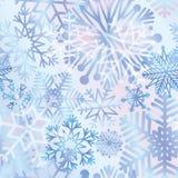 Snow tiled pattern. Snowflakes textured background. White snow f Stock Photo