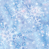 Snow tiled pattern. Snowflakes textured background. White snow Stock Images