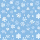 Snow tiled pattern. Snowflakes textured background. White snow Stock Photo