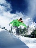 Snow time ride stock photo