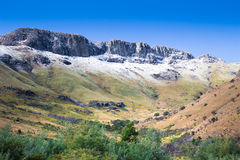 Snow tipped Amatola Mountains in Eastern Cape South Africa Stock Image