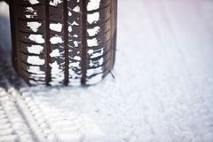 Snow tire Stock Photography