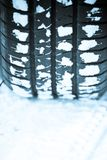 Snow tire Stock Image