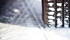 Snow tire Royalty Free Stock Photos