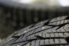 Snow tire close up royalty free stock photos