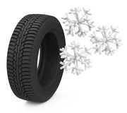 Snow tire Stock Images
