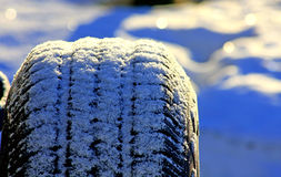 Spare Tire Snow Stock Photo