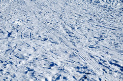 Snow Tire Track Royalty Free Stock Photo