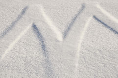 Snow tire tracks Stock Photos