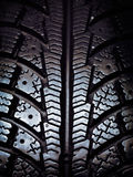 Snow tire tread Stock Image