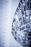 Snow tire in winter Royalty Free Stock Image