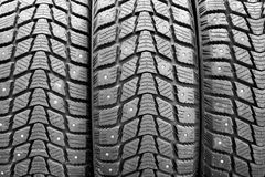 Snow tires background Royalty Free Stock Image