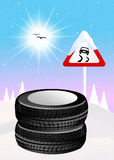 Snow tires Royalty Free Stock Image