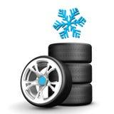 Snow Tires Stock Photos