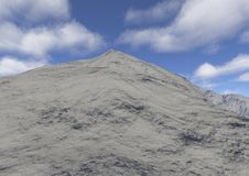 Snow top. Is an image of a high mountain peak in Royalty Free Stock Photo
