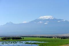 Snow on top of Mount Kilimanjaro Stock Photos