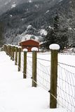A Snow Topped Fence Royalty Free Stock Photography
