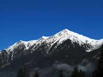 Snow Topped Mountain Royalty Free Stock Photo