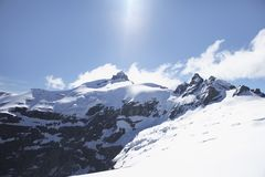 Snow-topped mountain peak Royalty Free Stock Image