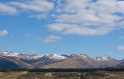 Snow topped mountains Ben Nevis Scotland UK in the Grampians Lochaber Highlands close to the town of Fort William Royalty Free Stock Image