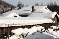 Snow town Stock Photos