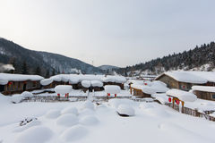 The snow town Stock Image