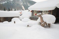 The snow town Stock Photo