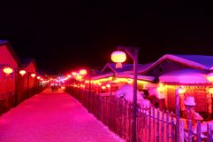 Free SNOW TOWN IN WINTER SEASON AT HARBIN, CHINA Royalty Free Stock Images - 137641099
