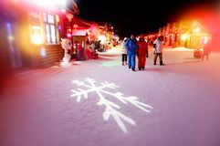 Free SNOW TOWN IN WINTER SEASON AT HARBIN, CHINA Stock Photo - 137641110