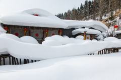 The snow town Stock Photography