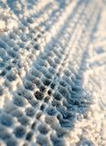 Snow Trace Royalty Free Stock Photography
