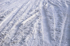 Snow Track. Road covered with snow no packed yet Royalty Free Stock Image