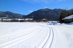 Snow tracks Stock Photography